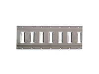 E-Track -- Horizontal. Gray Powder Coat - KIN 43002