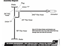 Single Axle Hydraulic Line Kit - TDN 80326