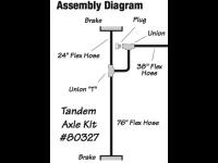 Hydraulic Line Kit - add 2nd Axle - TDN 80327