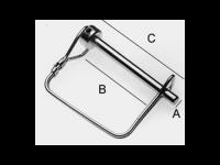 "Square Quick Connect Pin 5/16"" - BHI KL5163"