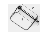 "Square Quick Connect Pin 1/4"" - BHI KL143"
