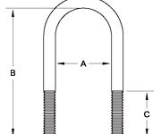 """2-3/8"""" U-bolt - TTP 12X238X7LN"""